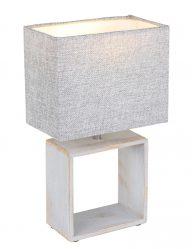 Markante Tischleuchte Grau-1647CR