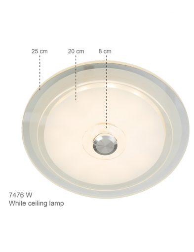 Moderne-Deckenleuchte-LED-Weiß-7476W-1