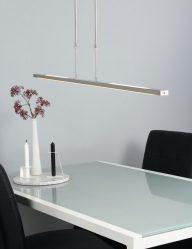 Moderne Hängelampe LED Stahlfarben-1482ST