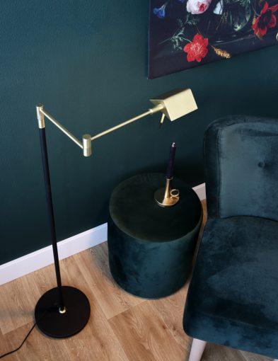 Moderne Stehleuchte LED Messing-1486ME
