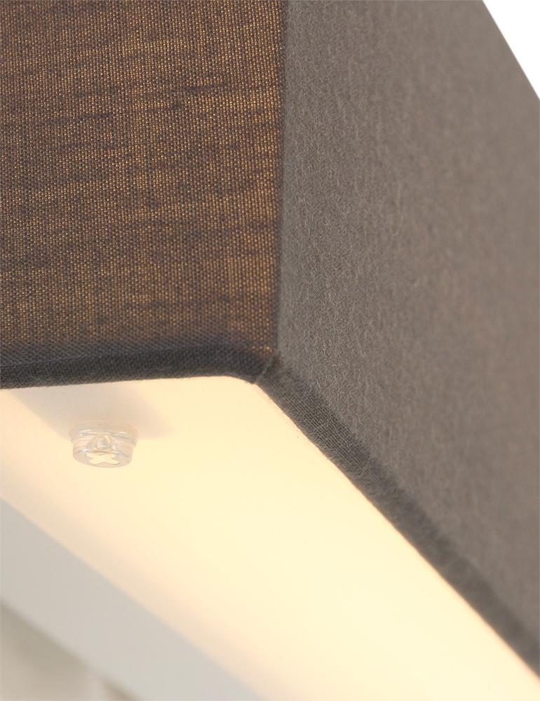 moderne wandleuchte trio leuchten lugano grau