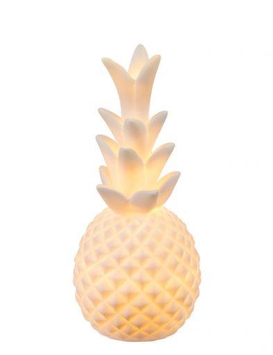 Modische Ananas Tischlampe Weiß Keramik-1719W
