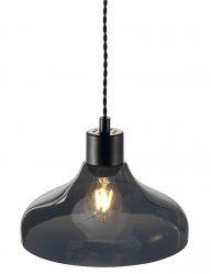 Pendelleuchte schwarz glas retro-2139ZW