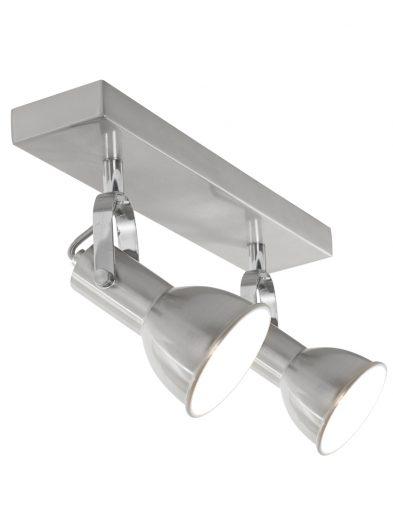 Praktische 2-flammige Deckenstrahler Stahlfarben-1429ST