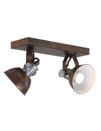 Praktische 2-flammige Leuchte Braun-1534B
