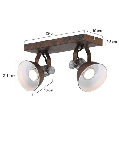 Praktische-2-flammige-Leuchte-Braun-1534B-7