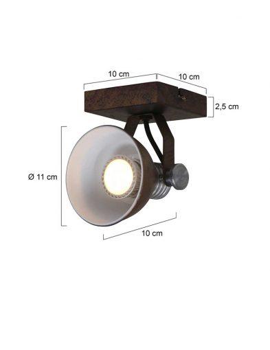 Praktischer-Deckenspot-Braun-1533B-5