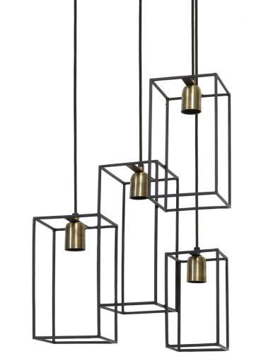 Quadratische 4-flammige Hängelampe-1968ZW