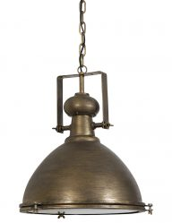 Robuste Hängelampe Bronze mit Glas-1753BR