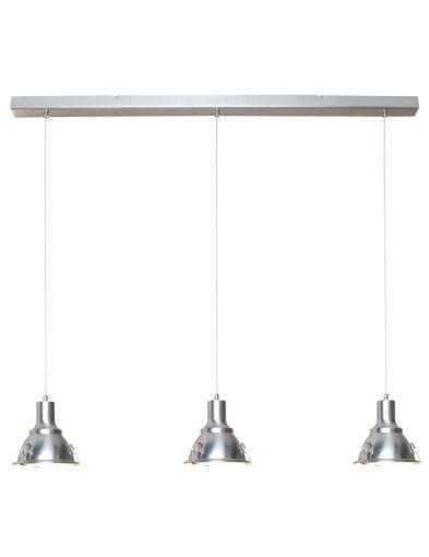 Robuste Hängelampe Stahl dreilicht-6526ST