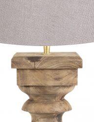 Robuste-Holzfuß-mit-Graue-Lampenschirm-9180BE-1