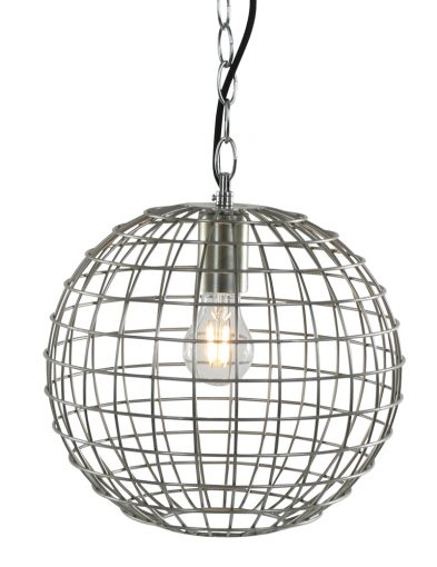 Runde Schraubenlampe Stahlfarben-1590ST