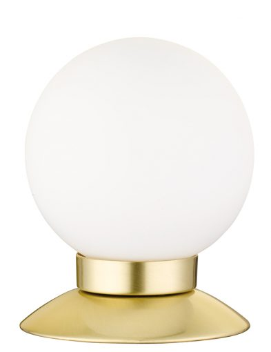 Runde Tischlampe mit Goldenem Fuß-1806ME
