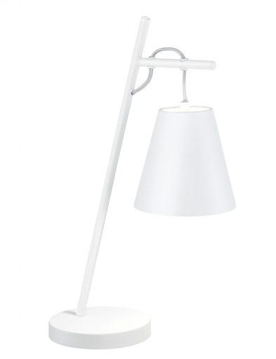 Schräge Tischleuchte Weiß-1656W