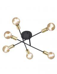 Schwarze Deckenlampe im Industrie-Design-1639ZW