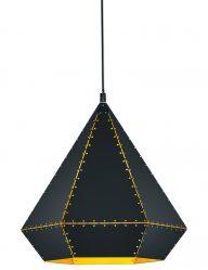 Schwarze Dreieck-Hängelampe-1803ZW