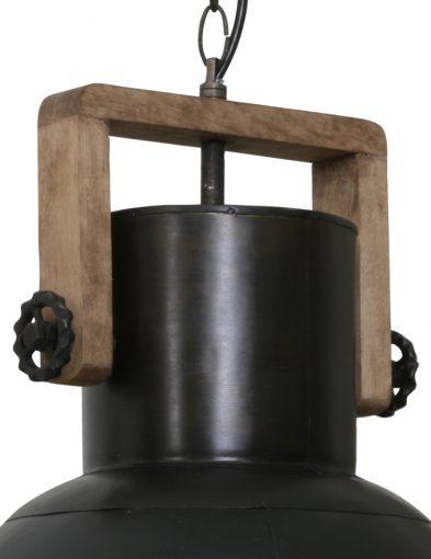 Schwarze-Industrielampe-mit-Holz-1678ZW-1