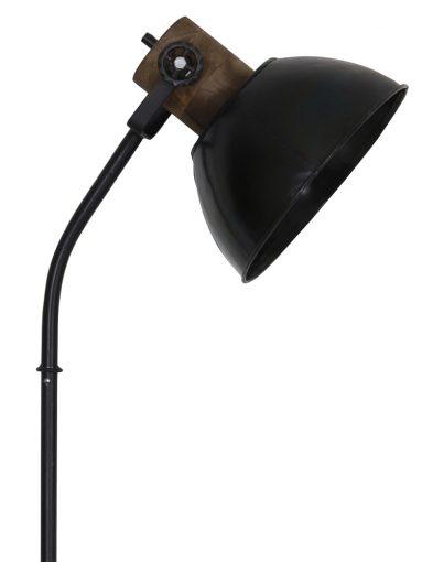 Schwarze-Industriestehleuchte-mit-Holzelementen-1954ZW-1
