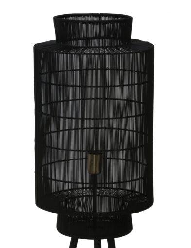 Schwarze-Stativ-Stehlampe-mit-Drahtabdeckung-2091ZW-1