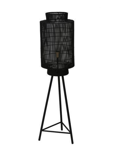 Schwarze Stativ-Stehlampe mit Drahtabdeckung-2091ZW