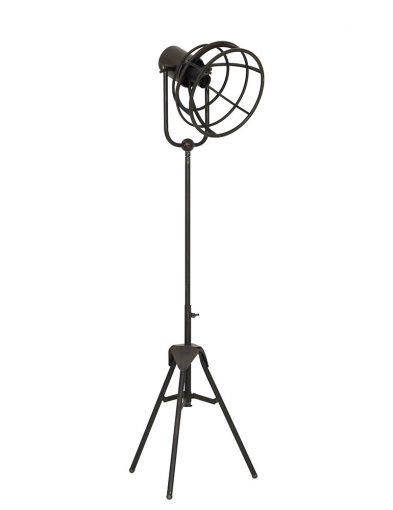 Schwarze Stehlampe dreibeinig-1912ZW