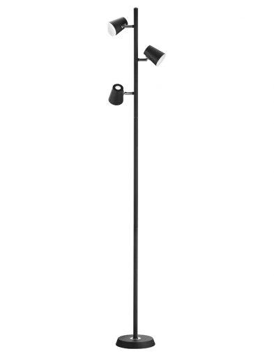 Schwarze Stehleuchte 3-flammig-1880ZW