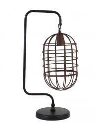 Schwarze Tischlampe Industrial-1921ZW
