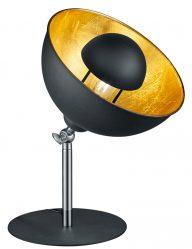 Schwarze Tischlampe mit Goldenem Interieur-1822ZW