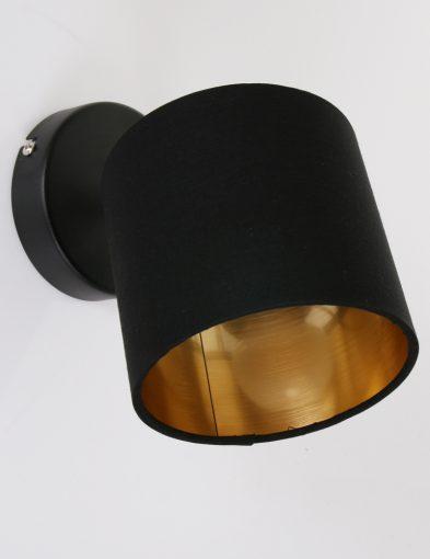 Schwarze-Wandlampe-mit-Goldener-Innenseite-1652ZW-2