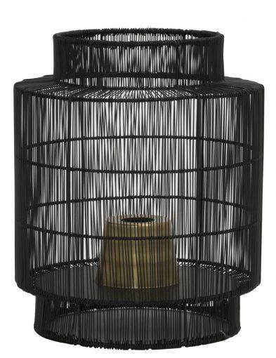 Schwarze runde Tischleuchte Draht-1935ZW