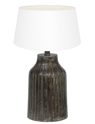 Schwarzen Tischlampe mit Weiße Schirm-9292ZW