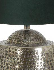 Silberfarben-Tischlampe-mit-Blaue-schirm-9976ZI-1