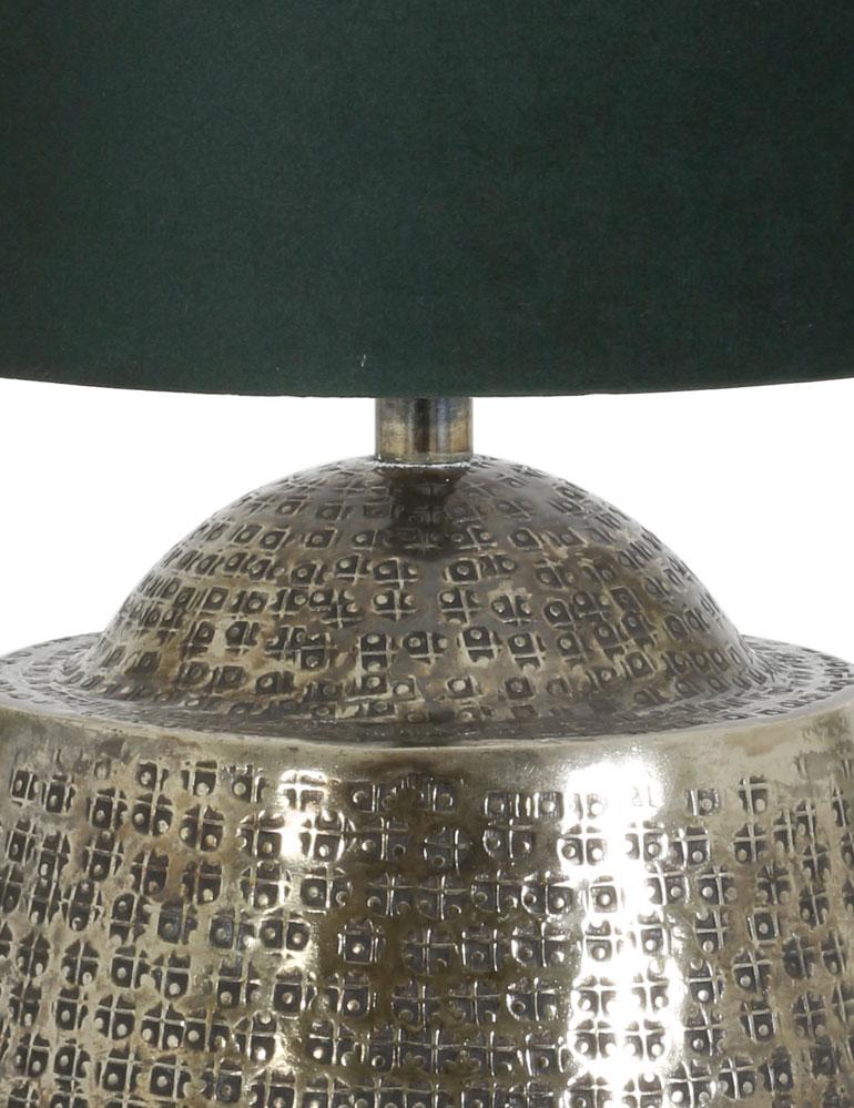 silberfarben tischlampe mit blaue schirm light living. Black Bedroom Furniture Sets. Home Design Ideas