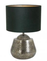 Silberfarben Tischlampe mit Blaue schirm-9976ZI