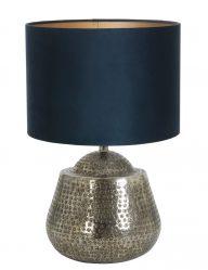 Silberfarben Tischlampe mit Grüne schirm-9977ZI