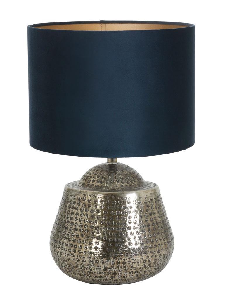 silberfarben tischlampe mit gr ne schirm light living. Black Bedroom Furniture Sets. Home Design Ideas