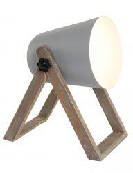 Skandinavische Tischlampe Grau-1642GR