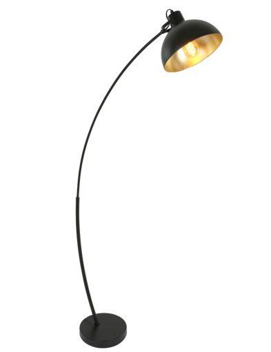 Sphärische Stehleuchte Schwarz / Gold-1631ZW