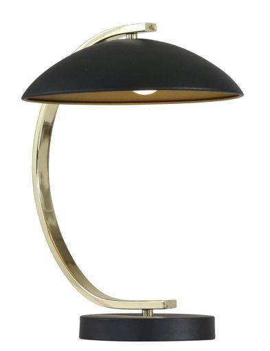 Sphärische Tischleuchte Schwarz / Gold-1645ZW