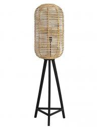 Stativ-Stehlampe mit Bambusschirm-1952BE