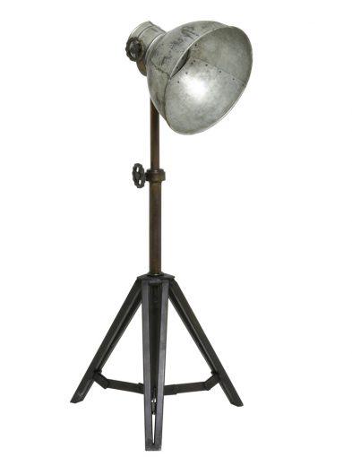 Stativ-Stehlampe mit Silbernem Schirm-1931ZI