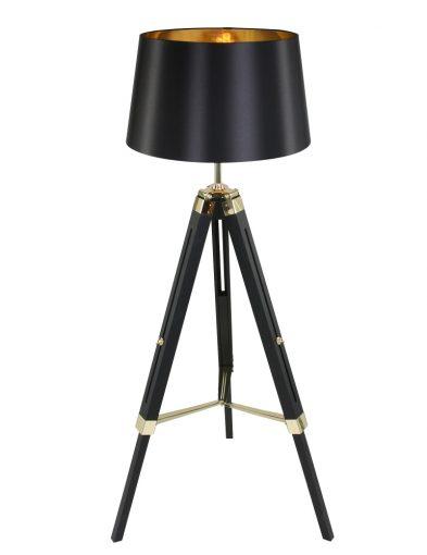 Stehlampe Schwarz / Gold-1623ZW
