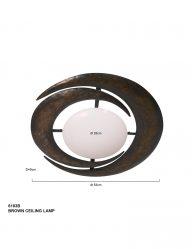 Stilvolle-Deckenleuchte-Braun-6183B-1