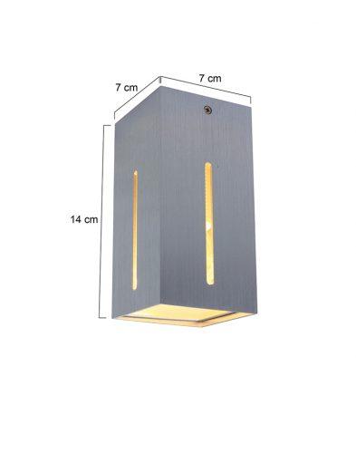 Stilvolle-Wandleuchte-LED-Stahlfarben-1463ST-3