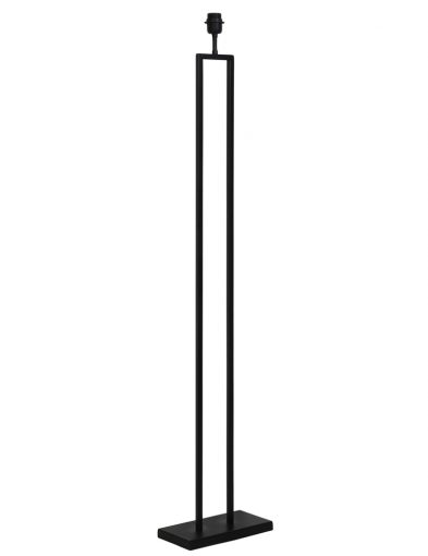 Stilvoller langer Lampensockel Schwarz-2093ZW