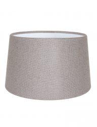 Taupe leinen lampenschirm-K1116LS