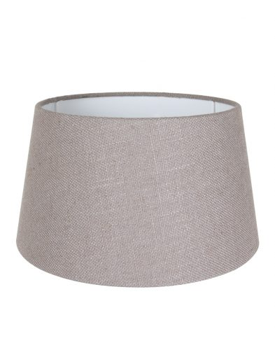 Taupe leinen lampenschirm-K1117LS