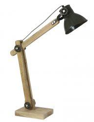 Tischlampe aus Holz industriell-1917ZW