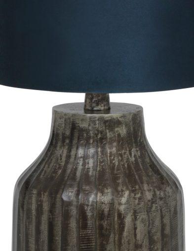 Tischlampe-aus-Metall-mit-Blaue-Schirm-9291ZW-1