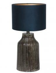 Tischlampe aus Metall mit Blaue Schirm-9291ZW